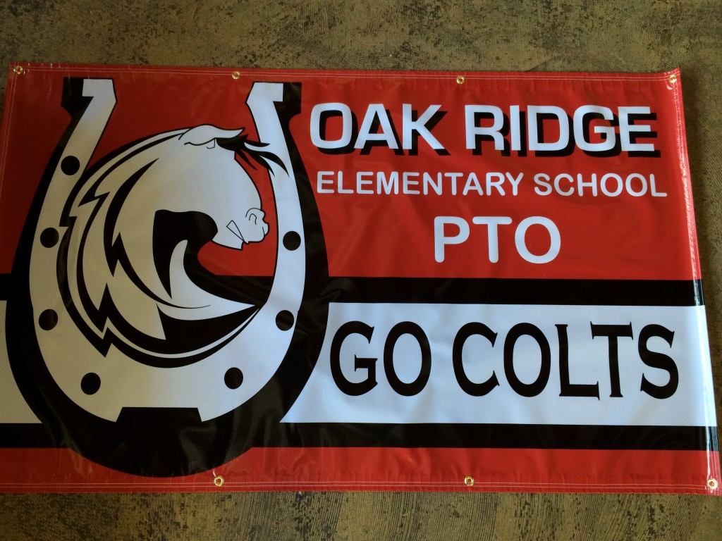 Banner with Custom Designed School Logo